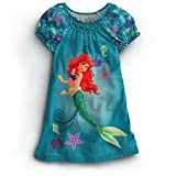 Disney Princess Ariel Little Mermaid Nightshirt Nightgown Pajama 2 3 4 5 6 7 8 10