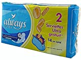 ALWAYS ULTRA NIGHT HEAVY FLOW PADS - 14 PADS