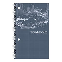 Brownline Daily Academic Planner, August 2014 - July 2015, 8 x 5 inches, Poly Cover, Blueprint, Color May Vary, 1 Planner (CA201PS.ASX-15)