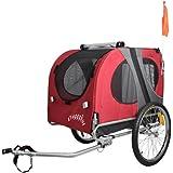 ORIGINAL DOGGYHUT LARGE PET BIKE TRAILER DOG BICYCLE TRAILER IN RED 1011701