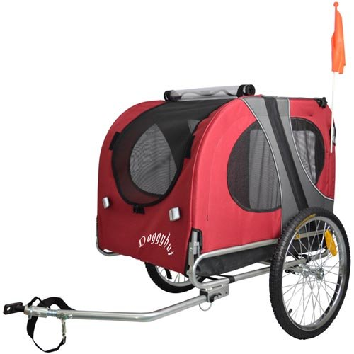 Doggyhut Large Dog Pet Bicycle Trailer in Red