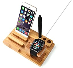 Gosin® New Detachable Bamboo Apple Watch iWatch Stand Cellphone iPhone 5 5s iPhone 6 6plus Stand Holder Charge Station
