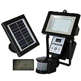 Frostfire Digital 54 LED Ultra Bright Solar Powered Motion Detector Light