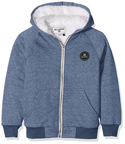 Billabong All Day Sherpa-Felpa con cappuccio e cerniera, da ragazzo, colore: blu scuro, taglia: 14 anni (taglia del produttore: 14)
