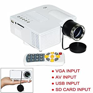 Hot Vga/av/usb/sd Input Mini Portable Multimedia Projector 48 Lux Remote Control