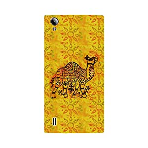 Skintice Designer Back Cover with direct 3D sublimation printing for Vivo Y15