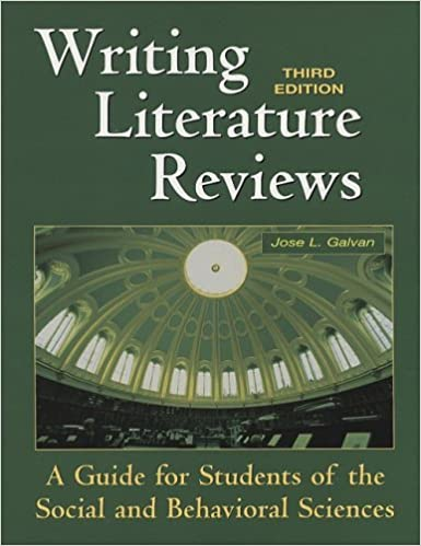 book cover: writing literature reviews