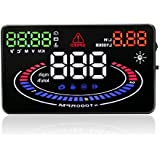 Arestech 5.5 Inches Multi-function Multi-color Screen Head Up Display Car OBD2 HUD With 2D Vision Reflection Display...