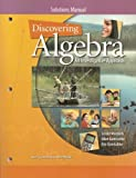 img - for Discovering Algebra: An Investigative Approach, Solutions Manual book / textbook / text book