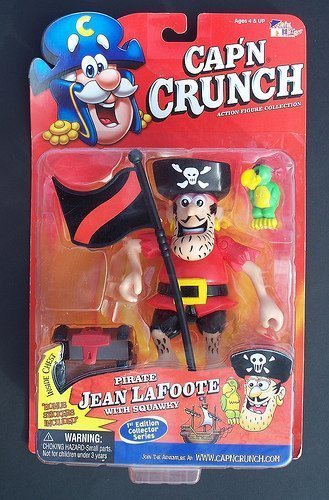 capn-crunch-action-figure-collection-pirate-jean-lafoote-with-squawky-first-edition-collector-series