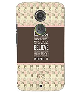 PrintDhaba Quote D-4776 Back Case Cover for MOTOROLA MOTO X2 (Multi-Coloured)