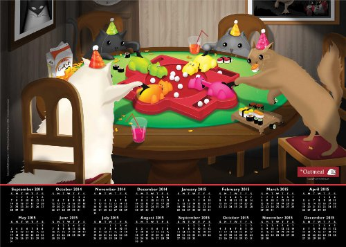 The Oatmeal 2014-15 16-Month Calendar Poster