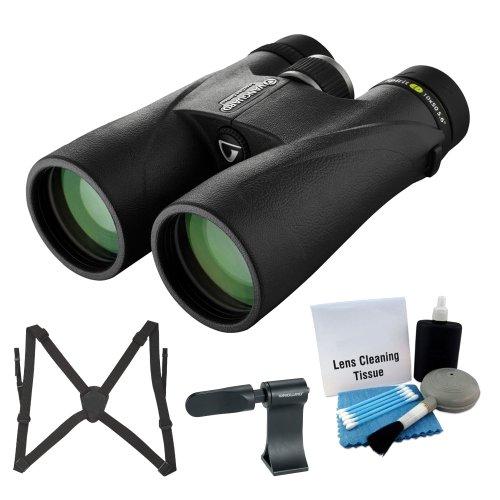Vanguard 8X42 Spirit Ed Waterproof Binocular (Black) With Optic Guard Binocular Harness, Roof Prism Binocular Adaptor And 5 Piece Cleaning Kit