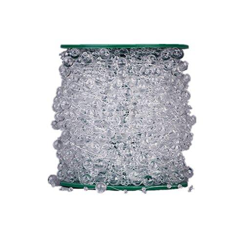 Simple Clear Acrylic Crystal String Ribbon Wrap BULK 200 Feet - Wedding Decorations, Party Supplies,Bridal Wedding Bouquet,Garland Centerpiece Decoration