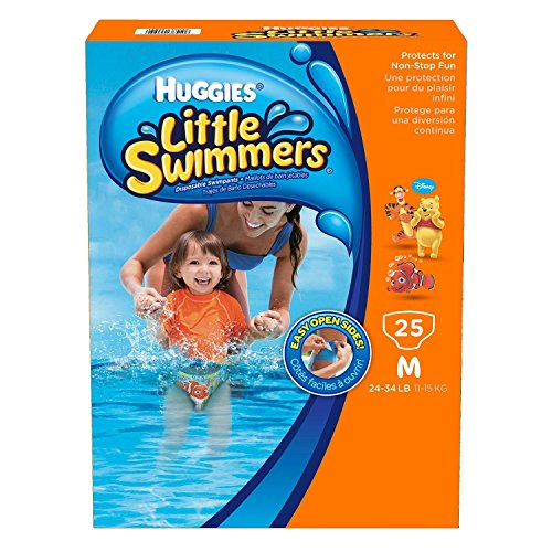 Huggies Little Swimmers Disposable Swimpants (Character May Vary), Medium 25 Count (Medium) - 1