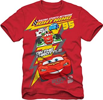 Amazon.com: Disney Cars T-Shirt (10) (Red) Party Accessory