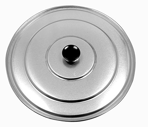 Paderno World Cuisine A4982188 Aluminum Paella Pan Lid, 13-3/8-Inch, Gray