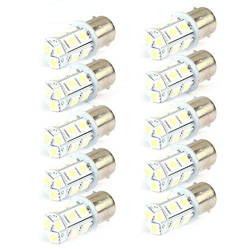 Vovotrade(Tm) 10Pcs 13-Smd 1156 Ba15S 12V Backup Signal Tail Light Led Bulbs
