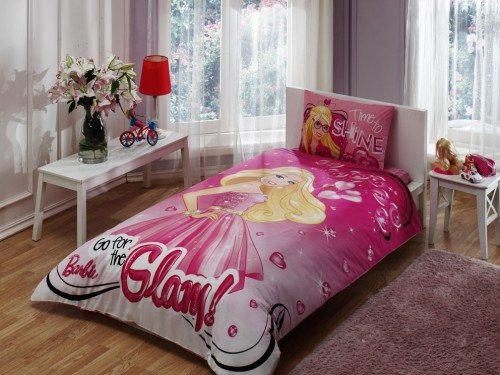 Barbie-twin-duvet-cover-set-bedding-bed-linen-licenced-0 Cotton