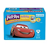 Pull-Ups Learning Designs Training Pants for Boys, 2T-3T, 74 Count