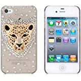 Leegoal(TM) 3d Swarovski Crystal Bling Case for Iphone 4 / 4s Leopard Head