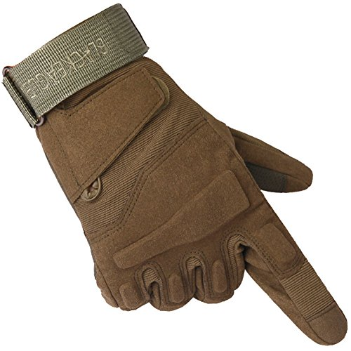 Surblue Full Finger Hard Knuckle Motorcycle Combat Training Outdoor Gloves