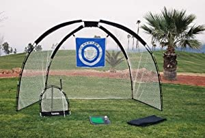 3 in 1 Golf Practice Set Mat Driving Net Chipping Net and Bag from Ajillis, Inc.