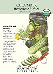 Botanical Interests 3135 Cucumber Homemade Pickles Organic Seed Packet