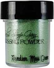 Lindy39s Stamp Gang 2-Tone Embossing Powder 05-Ounce Jar Reindeer Moss Green