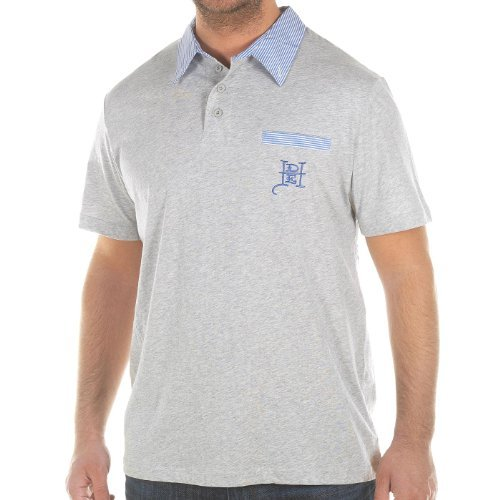 Ed Hardy Mens La Crown Skull Polo Shirt - Gray - X-Large