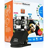 Logicam Webcam - Web Camera boxed and Brand New Black Sleek Webcam, USB Web Cam with Mic Microphone and 6 LEDs for Night Vision - 360 Degree Camera Rotation - Compatible with Microsoft Windows XP Vista Windows 7 and all latest windows - Clip base ideal for PC & Laptop - Skype Yahoo and MSN Enabled (SAME OR NEXT DAY DISPATCH)by Logicam