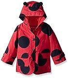 London Fog Little Girls Enhanced Radiance Ladybug Rain Slicker, Red, 6X