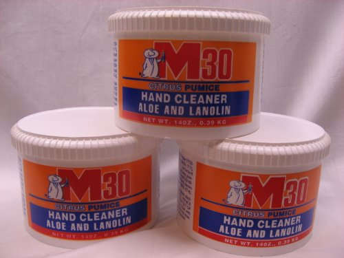 M30 Stain Remover/Hand Cleaner (Three 14Oz Tubs)