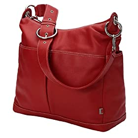 Red Leather Hobo Diaper Bag