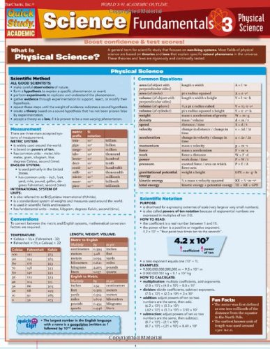 Science Fundamentals 3 Physical Science (Quickstudy: Academic)