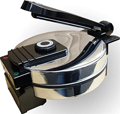 New Saachi SA1650 - Tortilla Press / Roti / Wraps / Pita & Flat Bread Maker - Nonstick with Temperature Control from Saachi