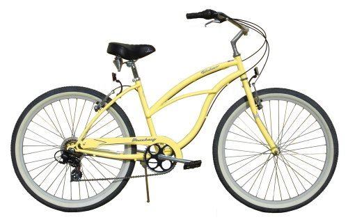 "Beach Cruiser Bicycle Woman 26"" Firmstrong Urban Lady multi speed (7sp) - vanilla"