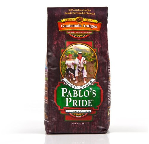 Pablo's Pride Whole Bean Guatemala Gourmet Coffee Medium-Dark Roast 2lb
