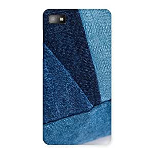 Impressive Denim V Print Back Case Cover for Blackberry Z10