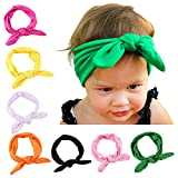 Jastore® Baby Girls Rabbit Headband Cute Headdress Newborn Hair Bands(8 Colors)