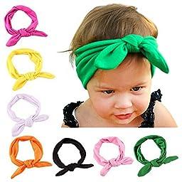 Jastore® Baby Girls Rabbit Headband Cute Headdress Newborn Hair Bands(8 Colors)