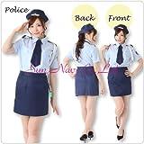 【コスプレ】婦人警官コスチュームカラー:紺3L