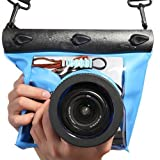 Tteoobl Blue Waterproof Bag Pouch Case Cover for SLR DSLR Camera Canon 600D 40D 60D 7D 5D , Nikon D80 D90 D700 D5100 7000 (Camera is not included)