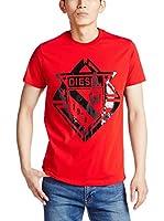 Diesel Camiseta Manga Corta T-Scod (Rojo)