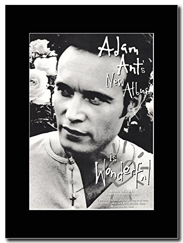 Adam-Ant Wonderful Magazine Promo su un supporto, colore: nero