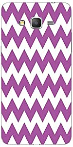Snoogg White And Purple 2569 Case Cover For Samsung Galaxy Grand Duos 2 G7106