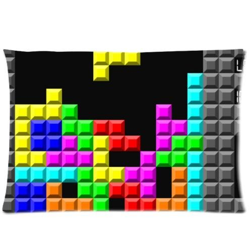 Personalized Tetris Game Pillowcases Pillow Cover One Side - Size 20x30 inch