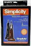 Simplicity Symmetry Riccar Vibrance Type A HEPA Vacuum Cleaner Bags