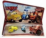 """マテル ディズニー・ピクサー「カーズ」 CARS  """"MOVIE MOMENTS"""" Luigi,Guido & Tractor   """"ムービーモーメンツ"""" ルイジ・グイド&トラクター 3台パック 初期カード"""
