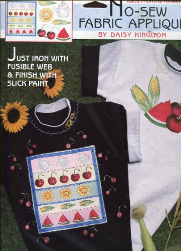 Daisy Kingdom Fruits & Flowers No-Sew Fabric Applique